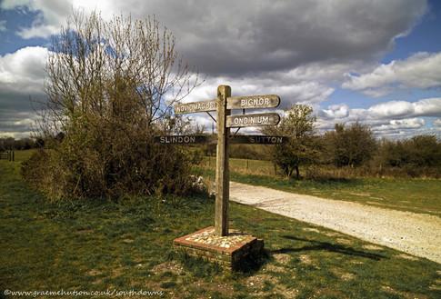 Bignor Hill signpost