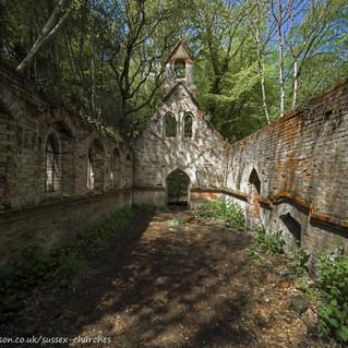 Inside the ruined Bedham Church