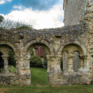 St Mary & St Blaise abbutting Priory ruins