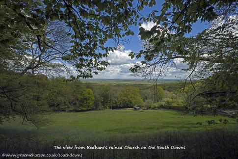 View from Bedham's ruined Church on the South Downs