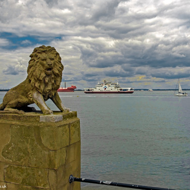Lion Statue on Egypt Esplanade, Cowes