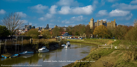 Arundel Castle, Cathedral and River
