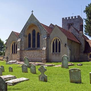 St. Mary's Church east windows, Funtington