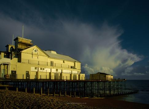 Bognor Regis pier cloudburst