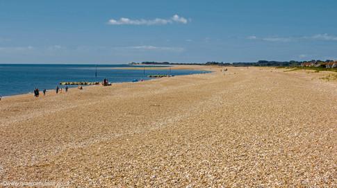 Pagham beach view west
