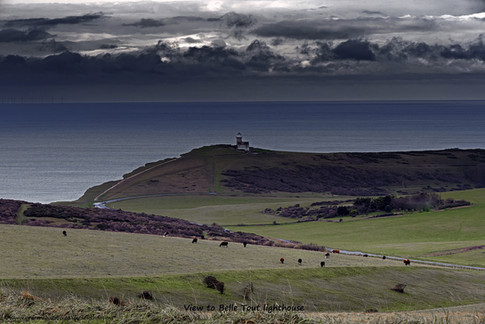 View to Belle Tout lighthouse