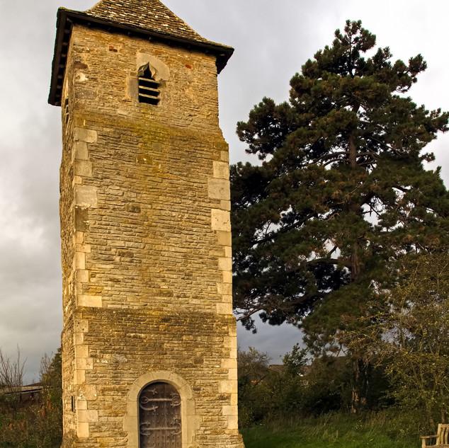 Lassington Church tower and door