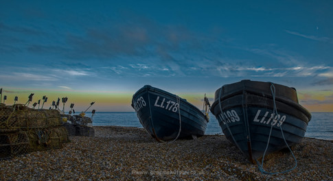 Fishing boats and lobster pots