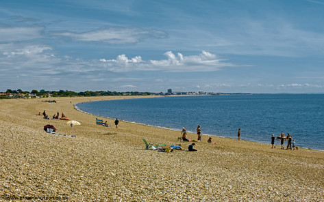 Pagham beach view east