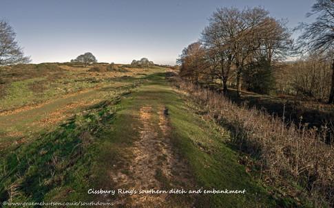 Southern embankment, Cissbury Ring
