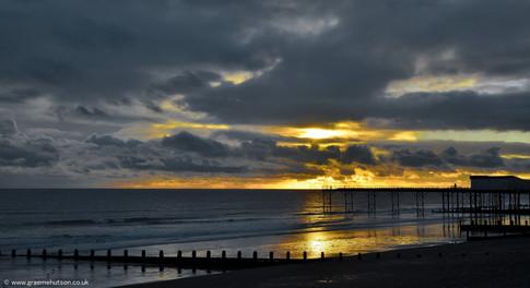 January pier dusk