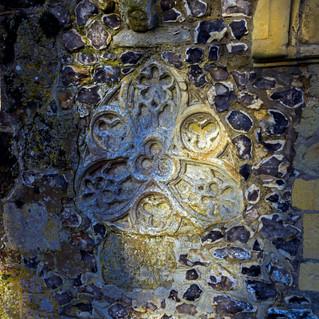 Porch stone decoration