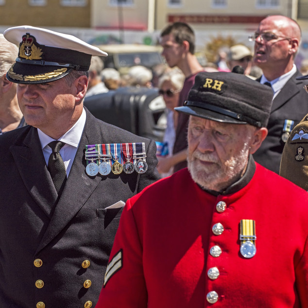RN Officer and Cheslea pensioner
