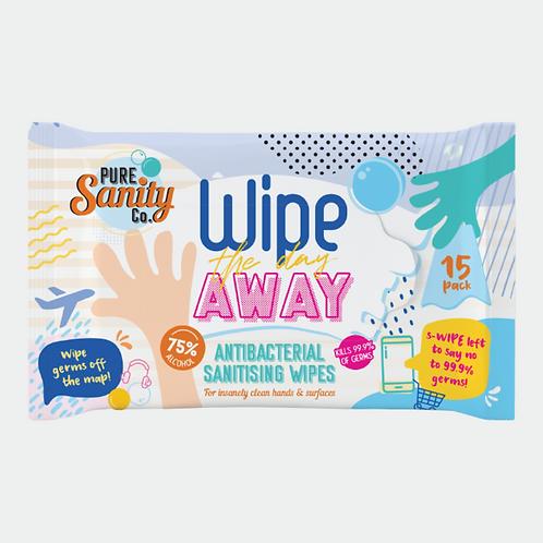 Pure Sanity Antibacterial Wipes (15 wipes)