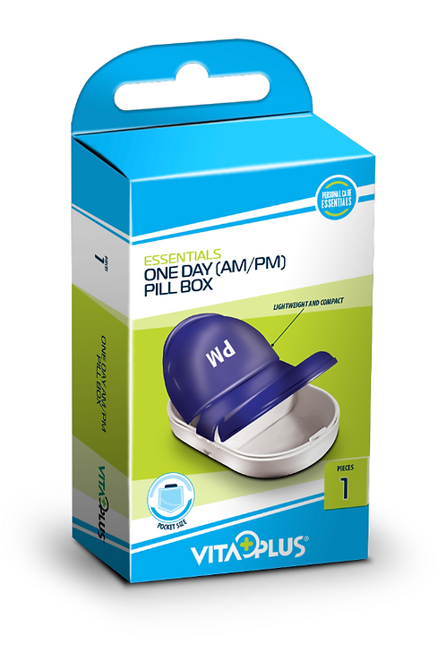 One Day (am/pm) Pill Box