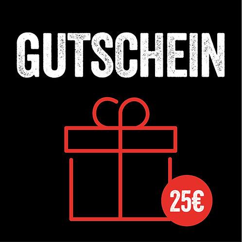 25€ Geschenkgutschein (mit Sofort-Versand per E-Mail)