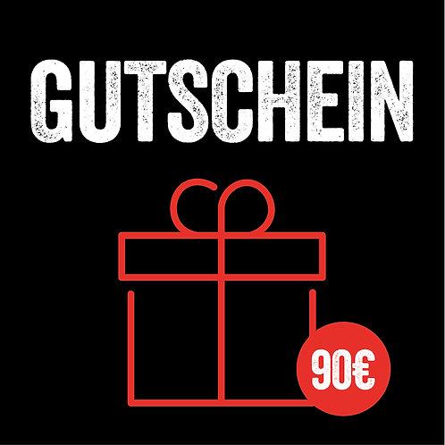 90€ Geschenkgutschein (mit Sofort-Versand per E-Mail)