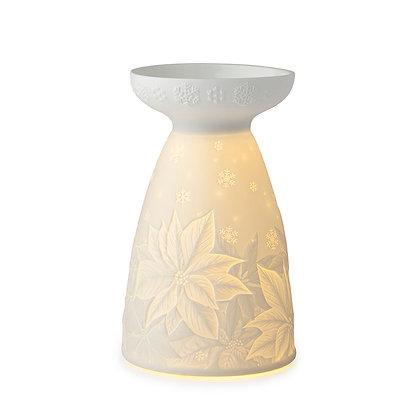 Porta candela natalizio con luce a led HERVIT
