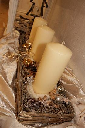 Centrotavola con candele grande