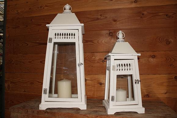 Lanterna bianca in legno, grande