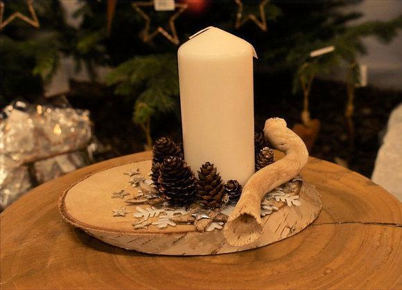 Centrotavola con candela
