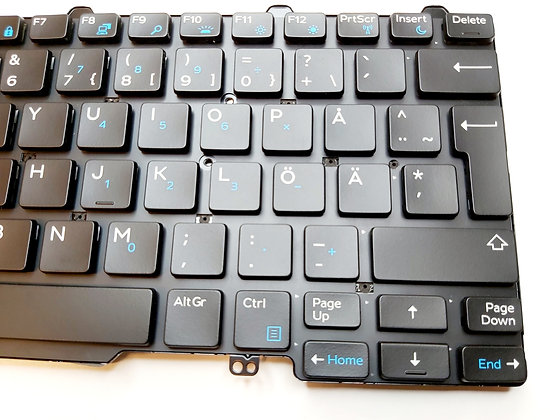 Dell E7250 Finnish keyboard