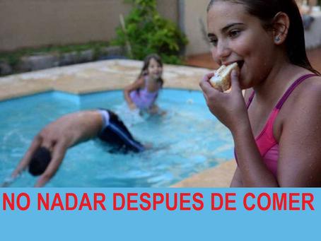 No se debe nadar después de comer, mito o realidad.