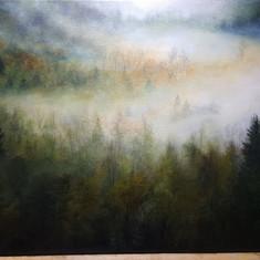 Work in Progress - Misty hillside