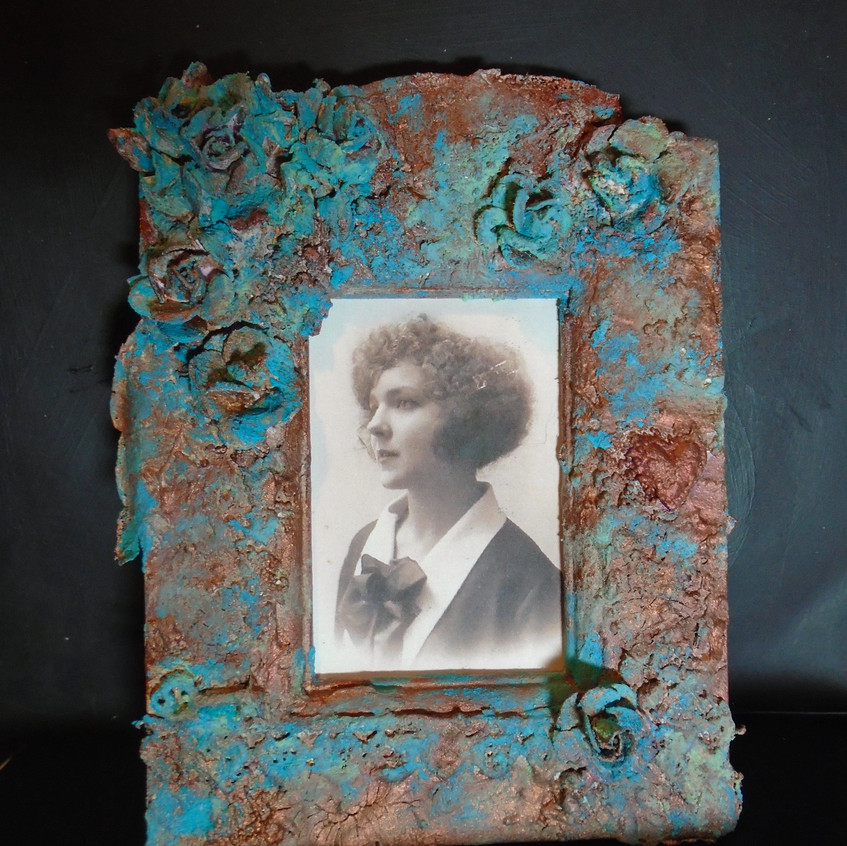 Mixed media picture frame