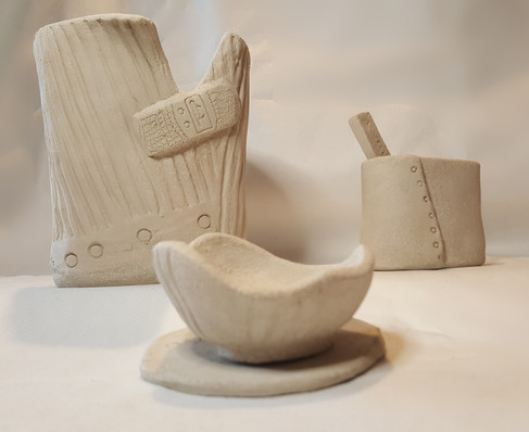 Architectural clay samples