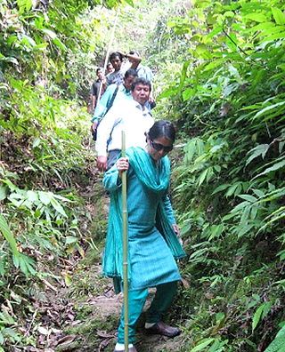 Sarla visiting Bawm and Chakma tribes in
