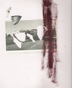 the missing hand,collage and paint on paper,20/40cm,2010