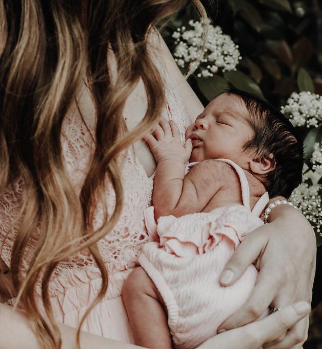 Alexandria + Myla Rose | A Newborn Lifestyle Session | North MS Photographer