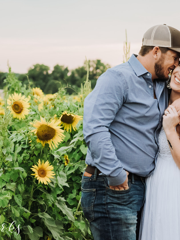 Emily + Bryan - Engaged | A Sunflower Session | Memphis Engagement Photographer