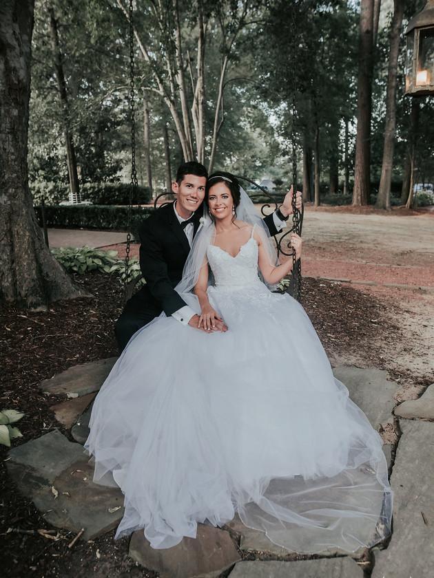 Mr. & Mrs. Thurber | The Oaks at Centreville | Alabama Destination Photographer
