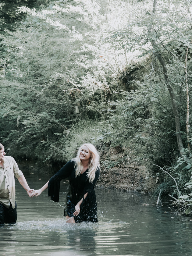 Ashlee + Trae   A Couple's Creek Session   North MS Lifestyle Photographer