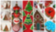 Green Red Christmas Holiday Photo Collag