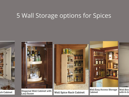 Spice Cabinet Storage Solutions for your Kitchen