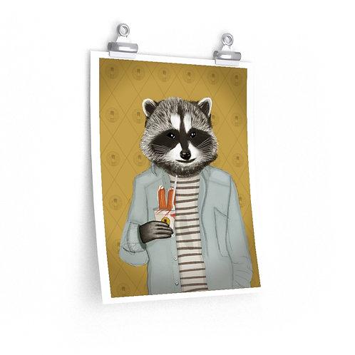 Frozen Churro Raccoon Poster