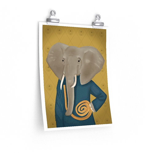 Twine Churro Elephant Poster
