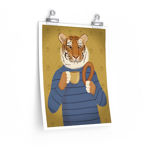 Lasso and Coffee Tiger Poster