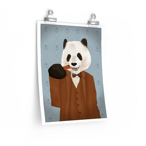 Filled Churro Panda Poster
