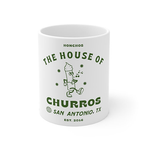 Green Whistling Churro Mug 11oz