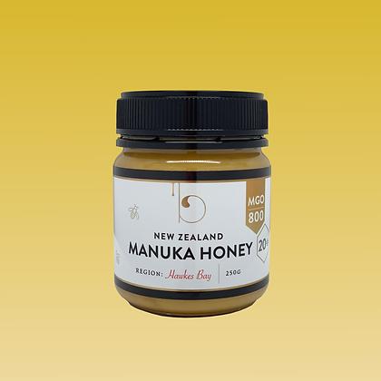 Premium MGO 800 (20+) Manuka Honey - 250g