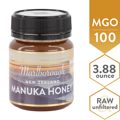 Marlborough - MGO 100 (6+), 110g multiflora Manuka Honey