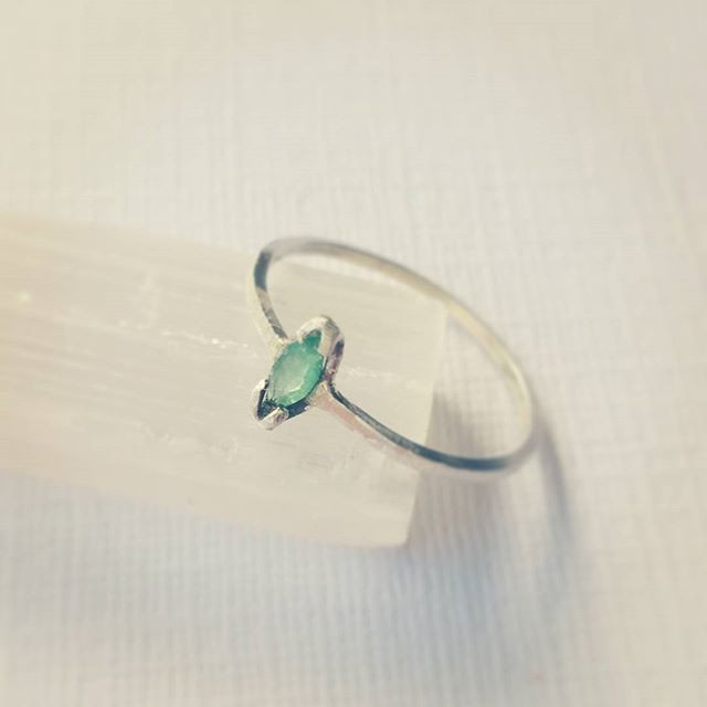 Marquise Cut Emerald Ring