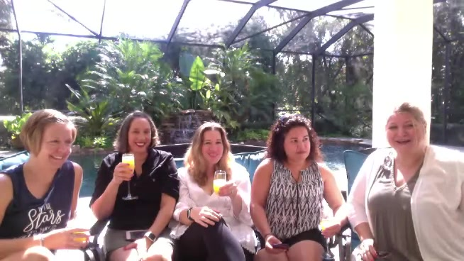 Mimosas in the Morning- Poolside!
