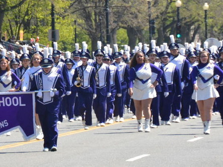 Marching Chieftains made their mark after successful performance in Washington