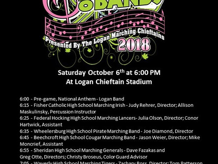 2018 Fall Festival of Bands