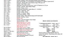 2021-22 Calendar of Events